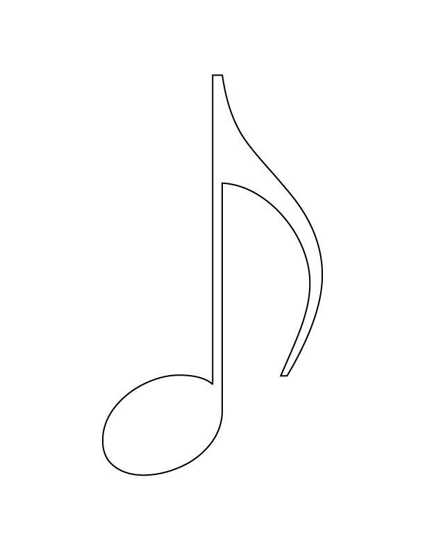 Music Note Symbol Coloring Pages Google Search Paper Musical