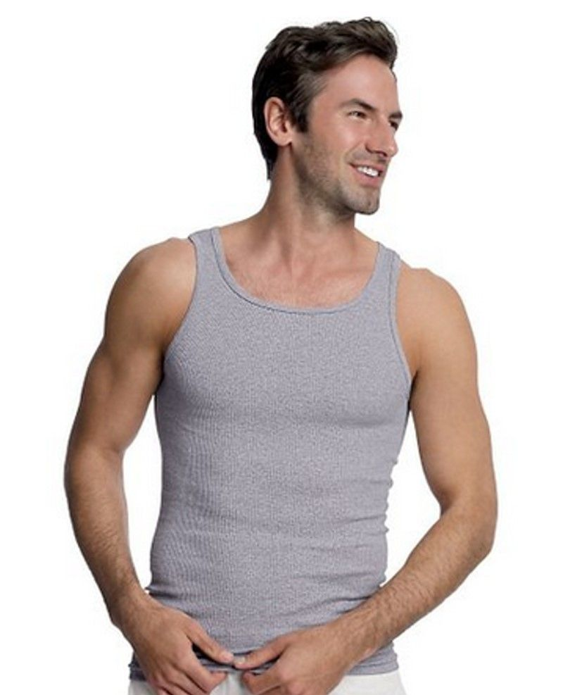 2fc8f08d2ee44 5% OFF for SHARING Hanes Men s TAGLESS® Ribbed Tank Tops