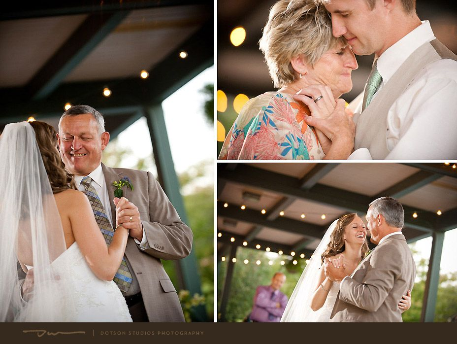 Father Daughter And Mother Son Dances At An Outdoor Wedding Reception Camp Dixie