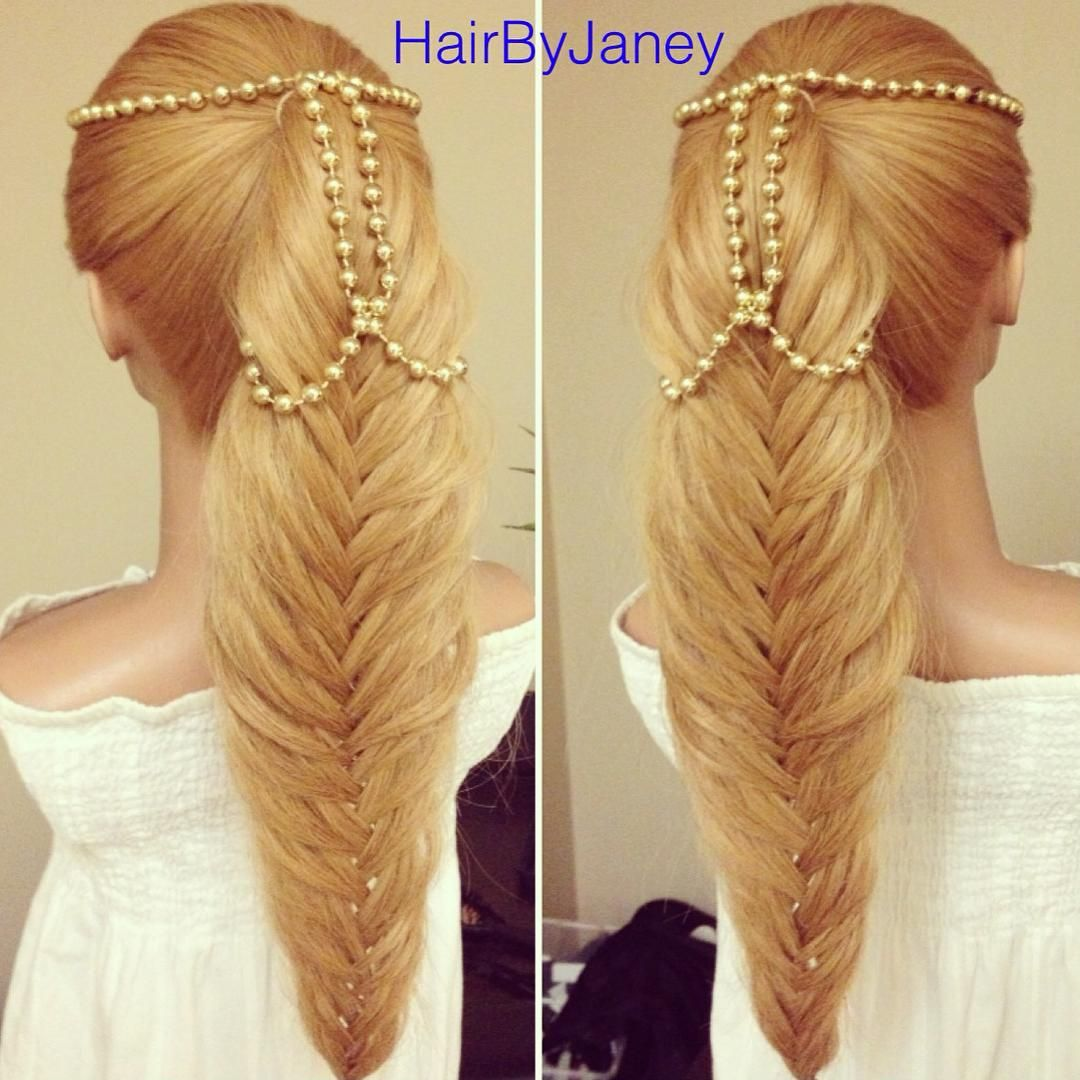Pin by mikenna bowers on junior prom pinterest fishtail ponytail