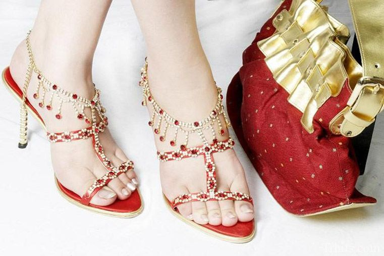 High Heels to wear with Saree