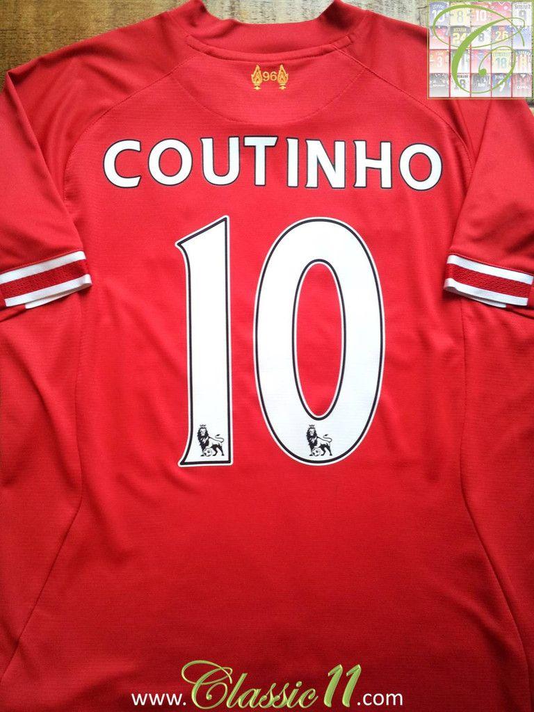a52d57549 2013 14 Liverpool Home Premier League Shirt Coutinho