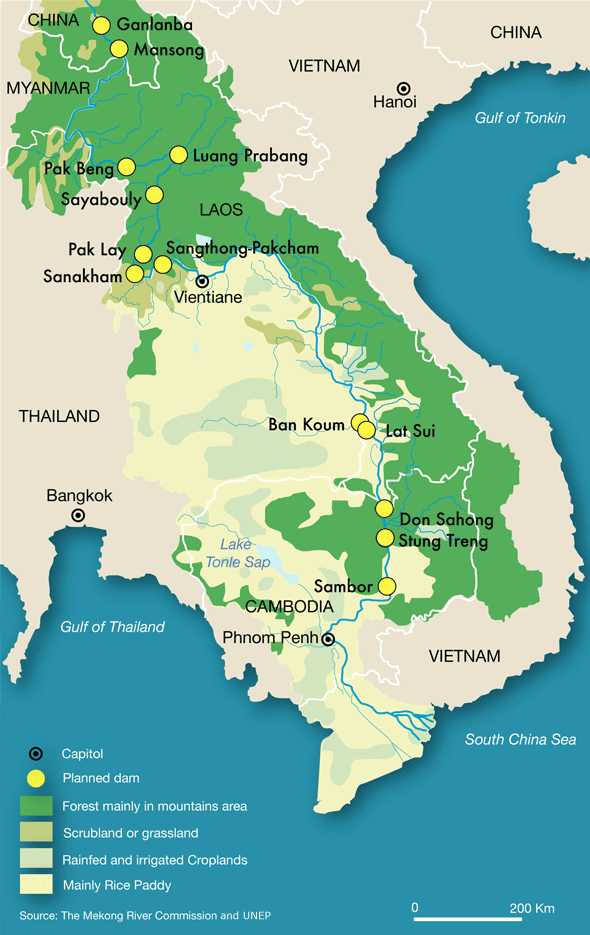 Mountains In Vietnam Map.Mekong Map World Hills Mountains Pinterest Map