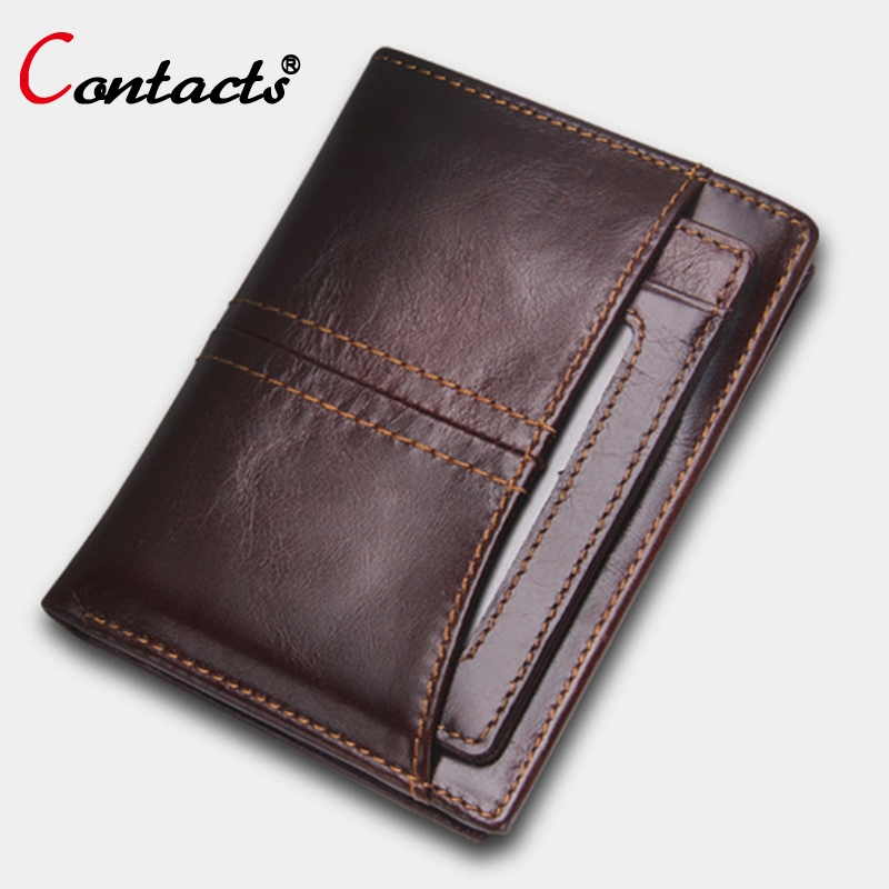 18.47$  Watch now - http://aliyc8.shopchina.info/go.php?t=32790045013 - CONTACT'S Mens Wallet Leather Genuine Men Wallets Short Leather Wallet Purse Brand Card Holder Small Male Clutch Bags Purses New  #buymethat