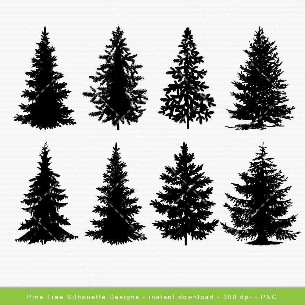 Popular Items For Tree Clip Art On Etsy Pine Tree Silhouette Tree Silhouette Pine Tree Drawing