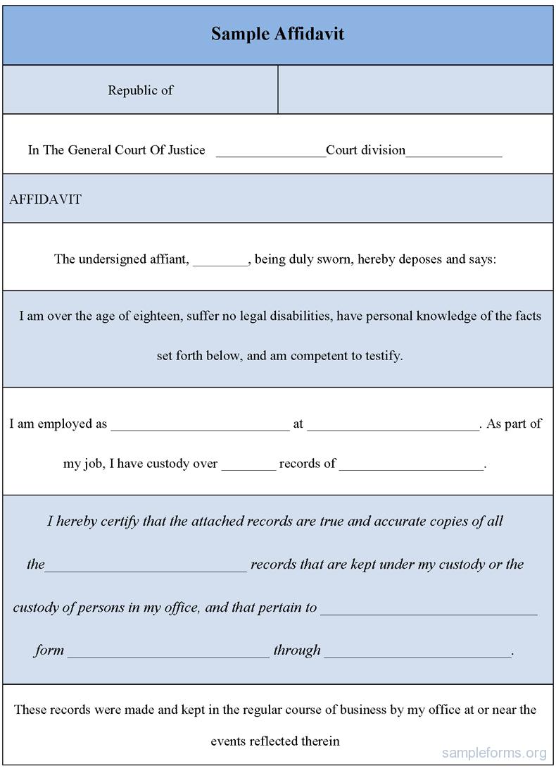 Sample affidavit form sample affidavit form affidavit forms sample affidavit form sample affidavit form falaconquin