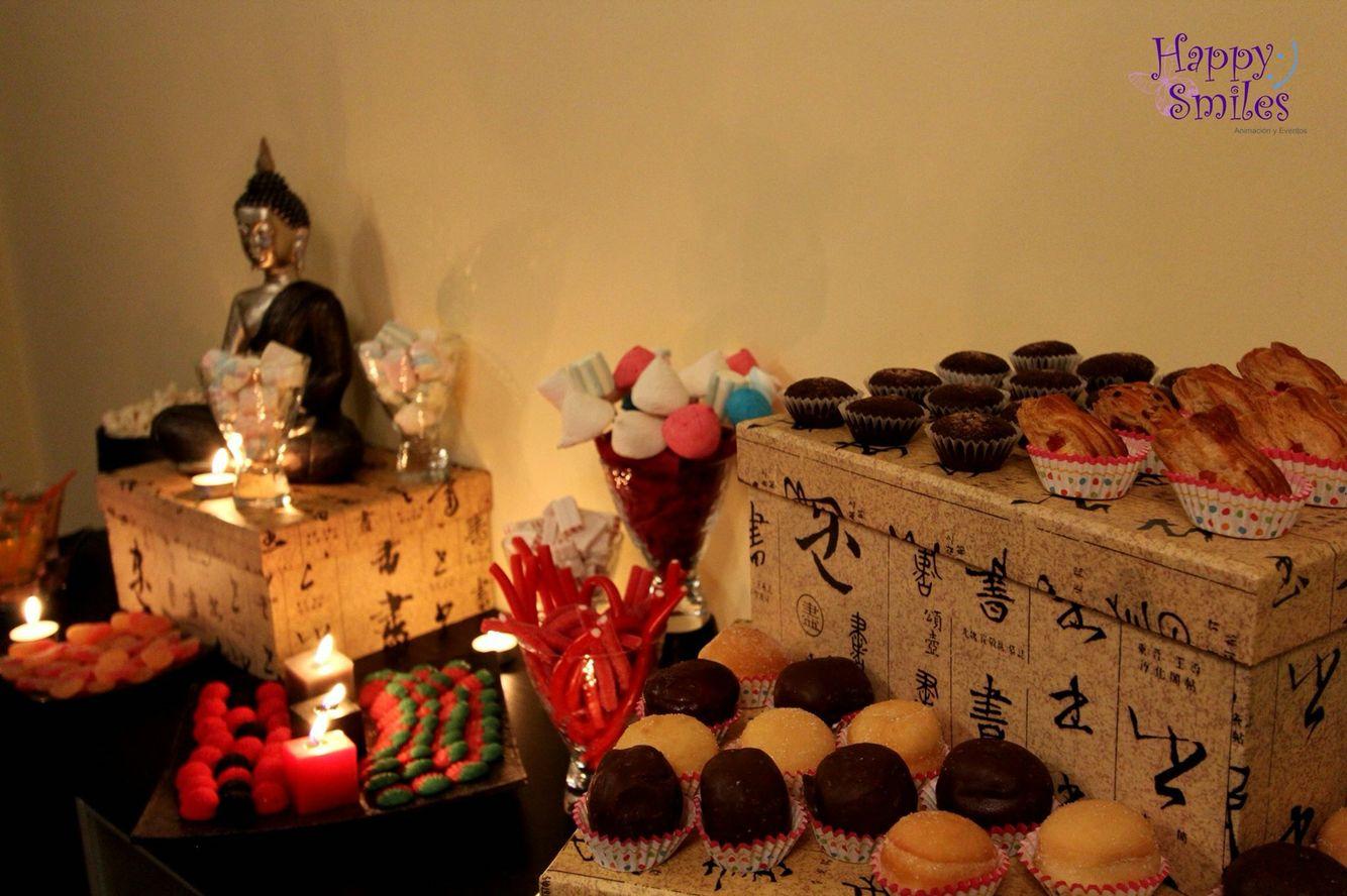 Candy Bar Oriental para un evento muy espiritual.