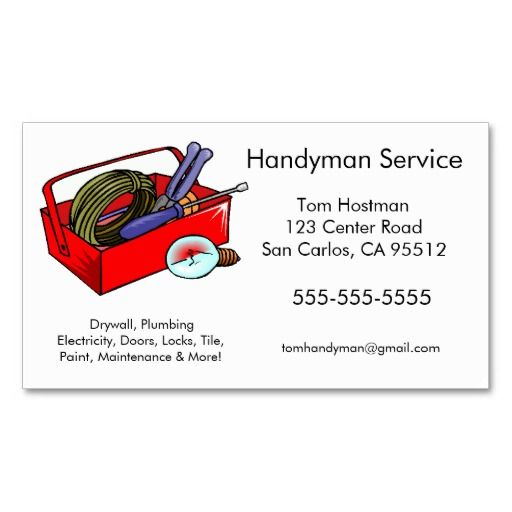 Handyman business cards business cards and business handyman business cards colourmoves Choice Image