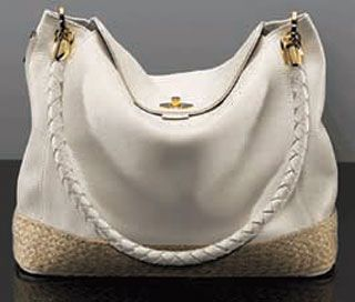 The Casual Chic Patricia Day Bag Retails For 295 Is Available In Sand Dollar Or Navy