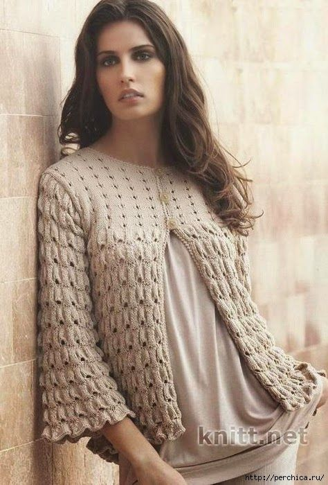 Patrones y moldes de saco de dama tricot | sweaters | Pinterest ...