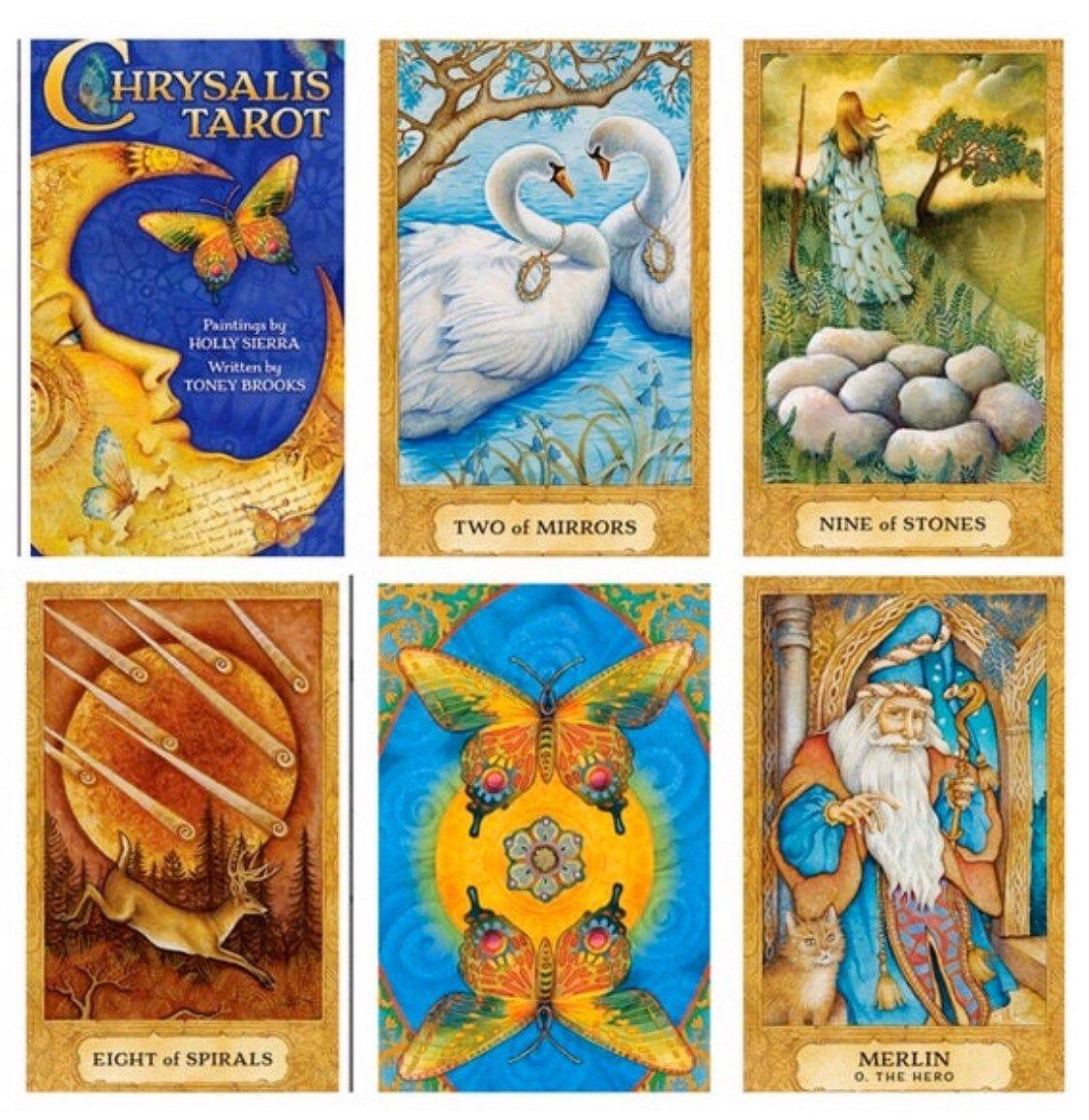 Tarot Deck Chrysalis, Tarot Cards, Tarot Card Deck, 78 Cards, Tarot Card Box by TheSolitaryCircle on Etsy | Tarot card decks, Tarot decks, Tarot