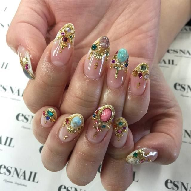 Nail Care, Manicure & Pedicure Artificial Nail Tips Crown Jewel False Nails