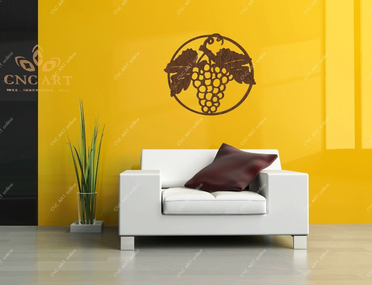 Wall decoration DXF CDR and EPS File For CNC Plasma, Router, LASER (W69)