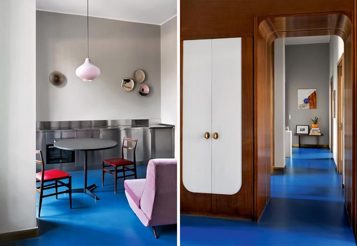 Arredamento Postmoderno ~ Casa classica per arte contemporanea carlo prada pranzo corridoio