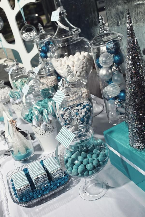 Dessert Tables Candy Buffet Wonderland Party Decorations Winter Party Decorations Winter Wonderland Birthday Party