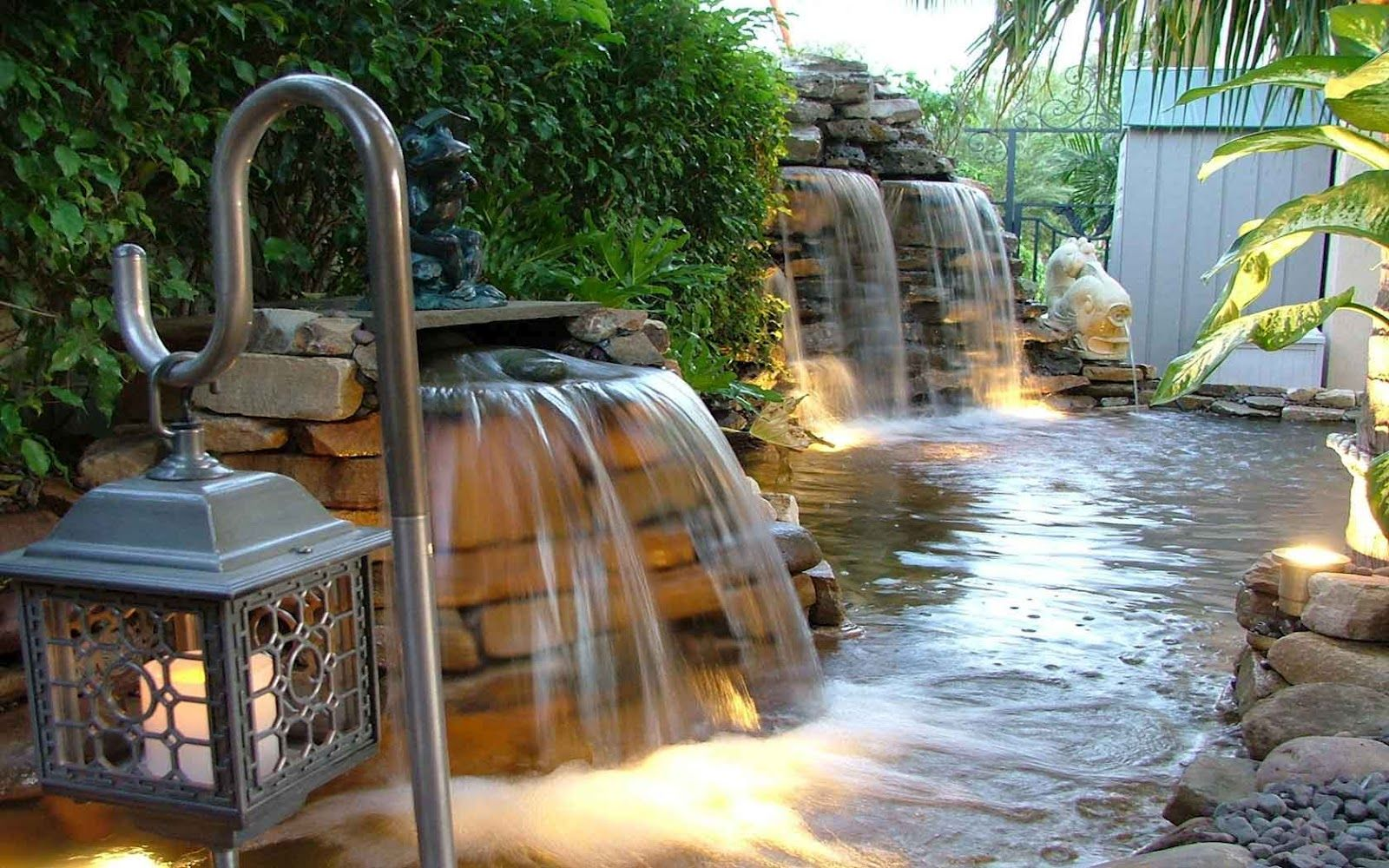simple koi pond waterfalls how to place pump in koi pond