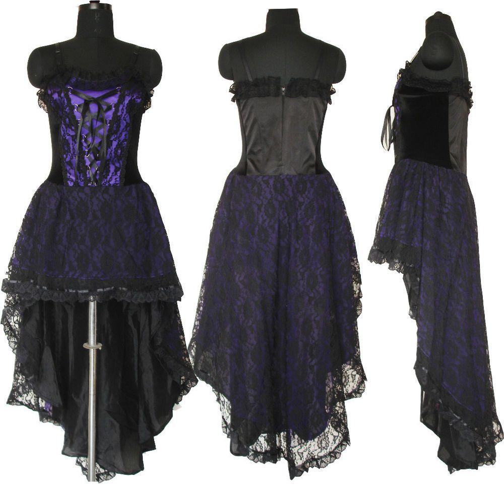 Gothic corset wedding dress prom purple halloween custom for Halloween wedding dresses plus size