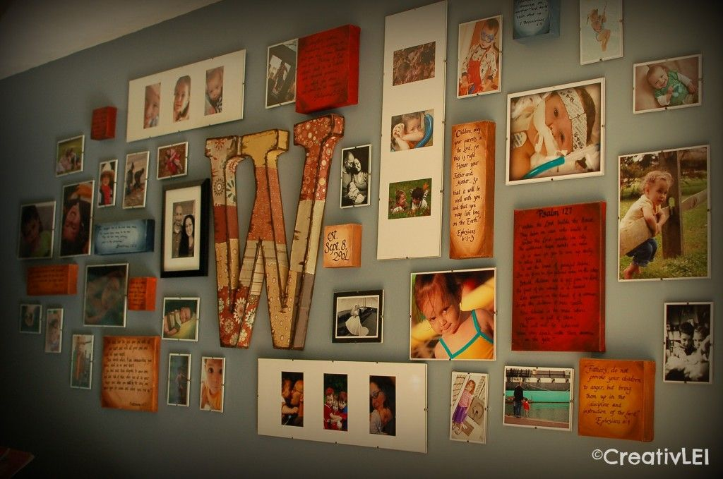 Create a Family Collage Wall {With These 2 Hands