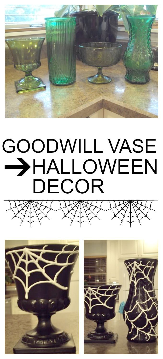 diy halloween decorations home. Goodwill Vase To DIY Halloween Decor Diy Decorations Home