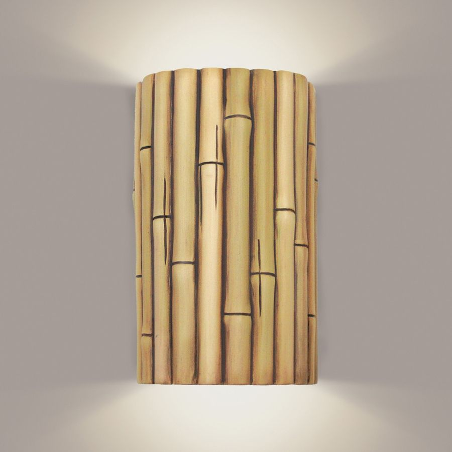 bamboo lighting | Bamboo Wall Sconce 1 Light Fixture shown in ... for Bamboo Wall Decoration Ideas  35fsj