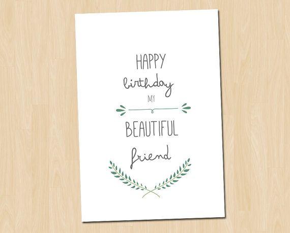 Best Friend Birthday card Happy Birthday Card by GreenDoorHandmade – Happy Birthday Card Best Friend