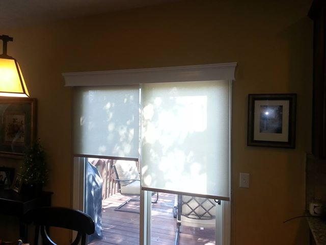 A Great Solution For Sliding Patio Doors Graber Roller Shades And