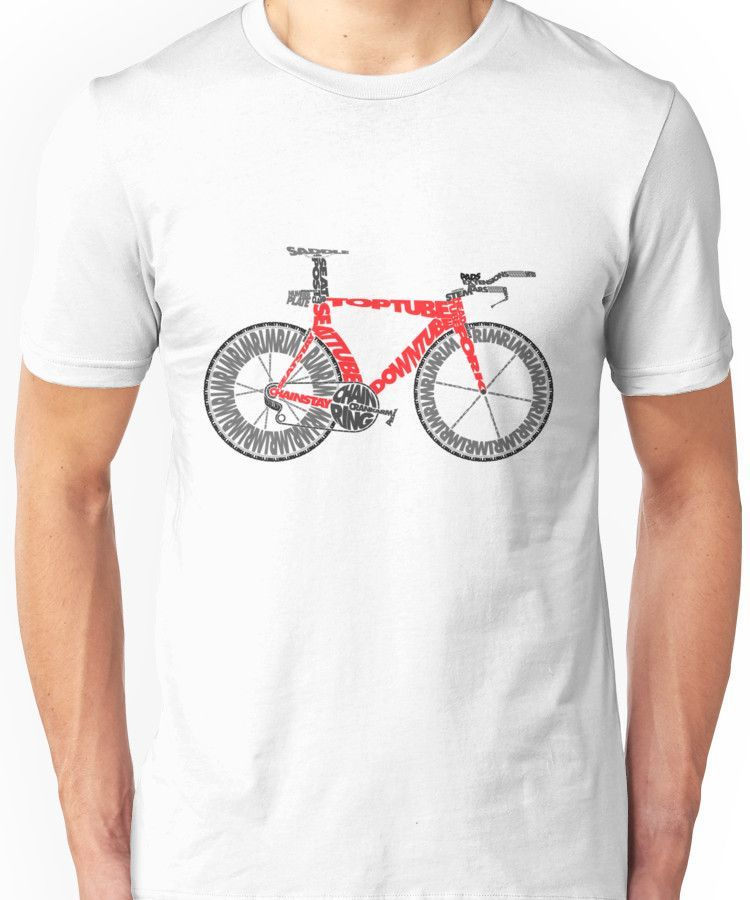 Anatomy Of A Time Trial Bike Unisex T Shirt Products Pinterest