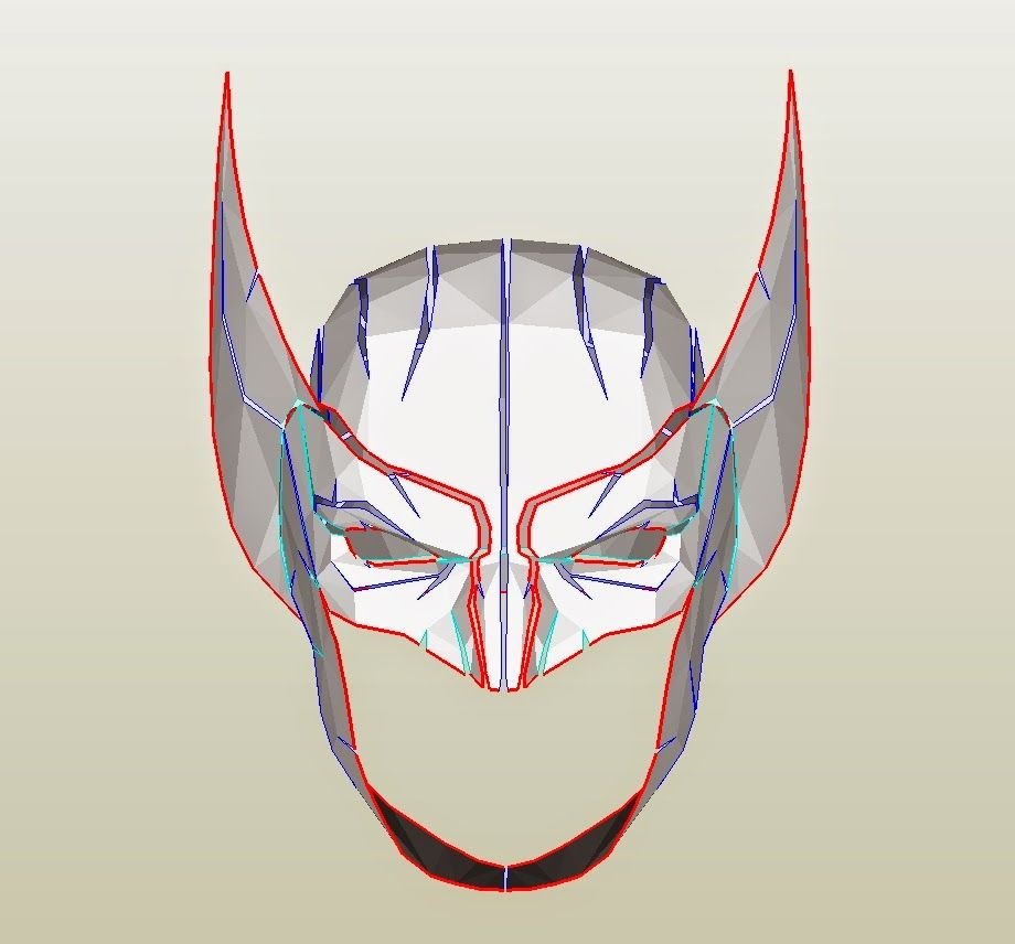 X-Men Wolverine Costume Mask/Cowl DIY - Cardboard (with template ...