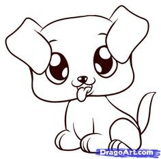 How To Draw A Puppy Step By Step Pets Animals Free Online Puppy Drawing Easy Easy Animal Drawings Cute Dog Drawing