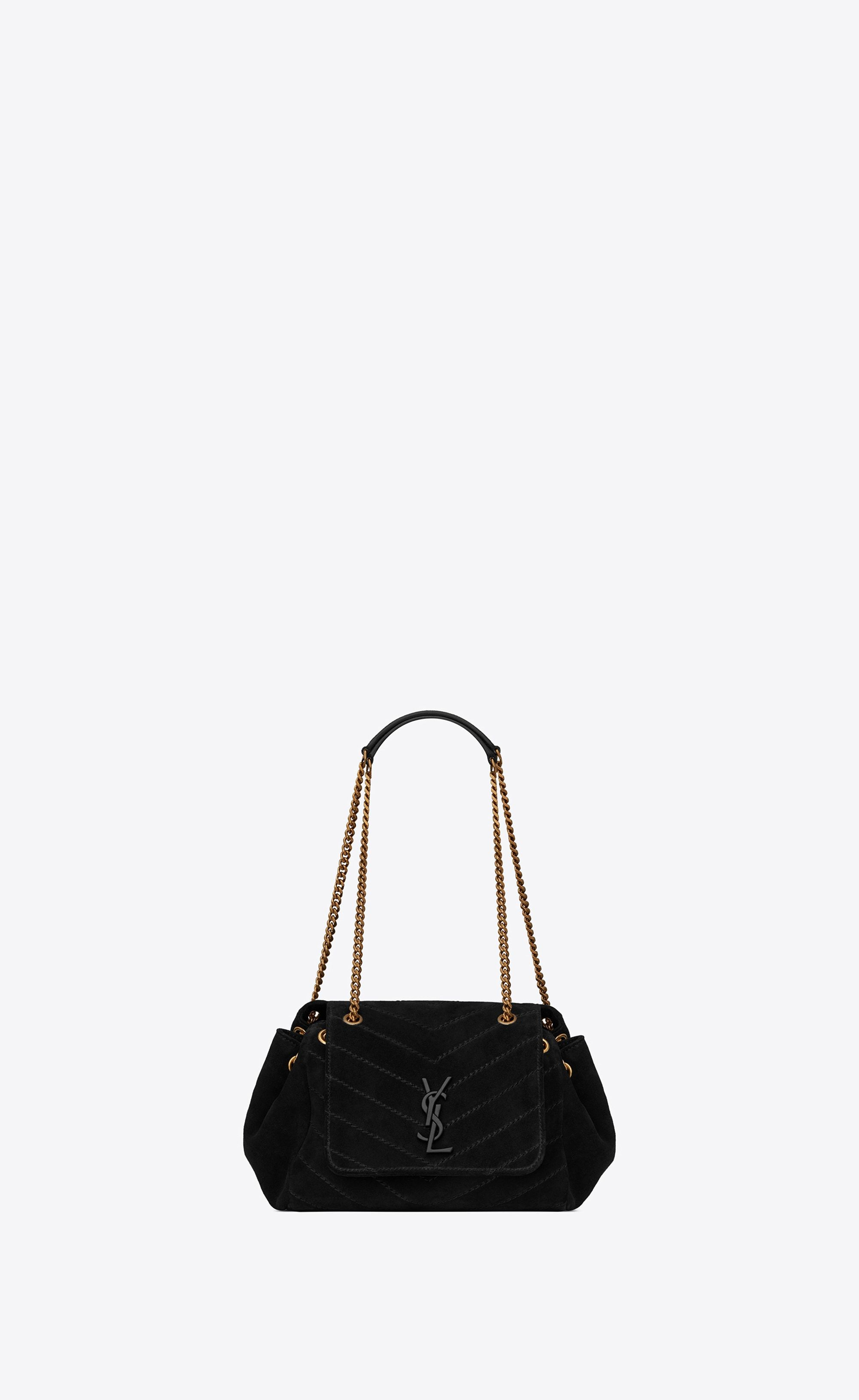 f80249c8d93e  Saint Laurent Small Nolita Chain Bag In Suede