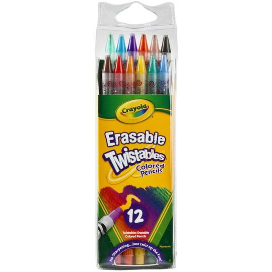 Crayola Erasable Twistables Colored Pencils 12ct Twistable