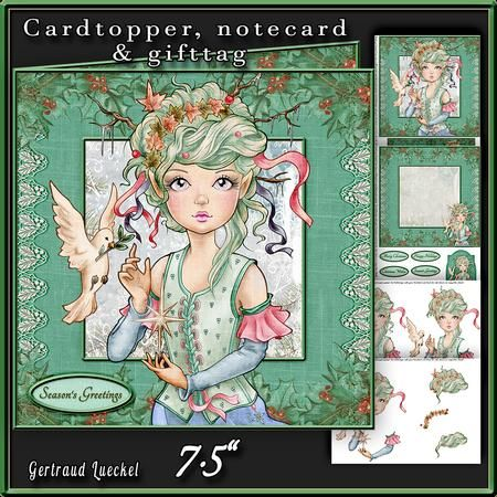 Cute Christmas Hope and Joy green 477 on Craftsuprint - View Now!