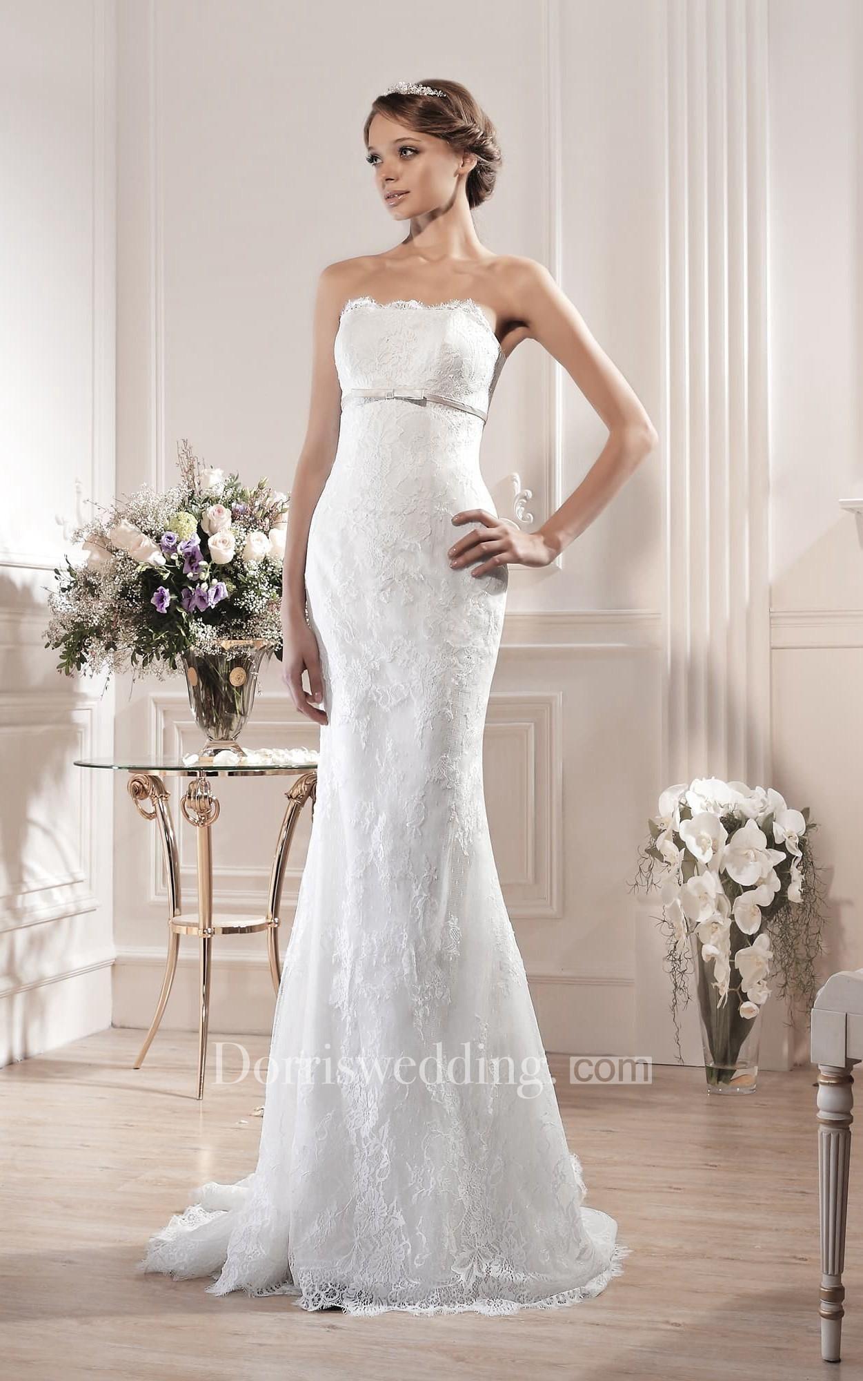 Dorris wedding dorris wedding sheath long strapless sleeveless
