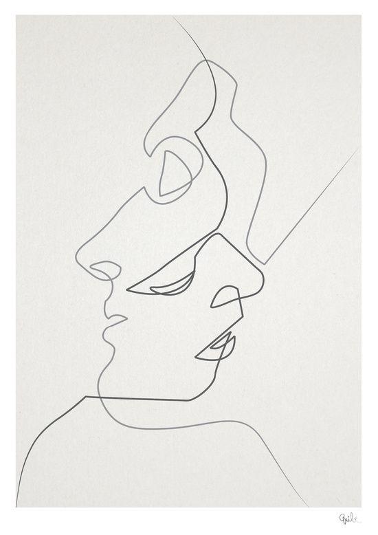 Illustrations d'une ligne étonnantes faites avec un seul coup de crayon continu   – çizim
