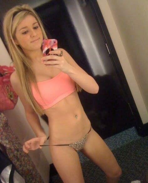 Sexy Blonde Teen Lingerie Selfie Selfshot Via Pyraelcapo