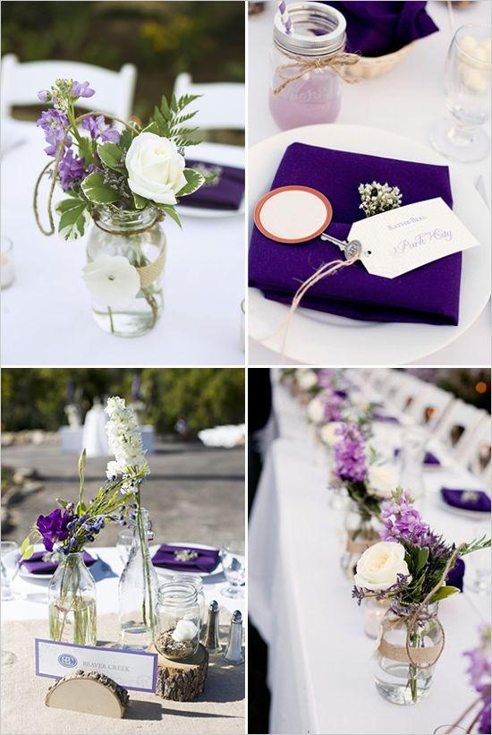 lavande et aubergine pour mariage
