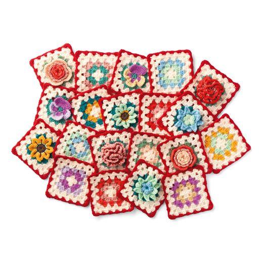 【初回お試し】イングリッシュガーデンのお花たち かぎ針編みのカラフルモチーフブランケットの会(12回限定コレクション) | フェリシモ
