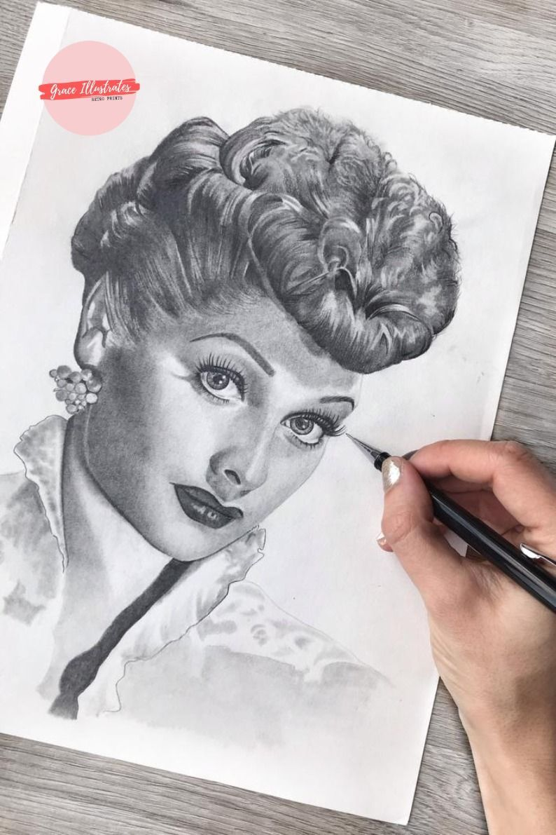 Pencil Drawing of Lucille Ball by GraceIllustratesArt in ...