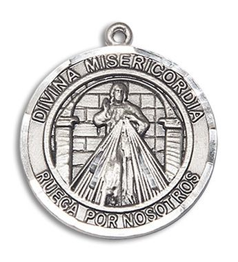 Sterling Silver Divina Misericordia Pendant 7366RDSPSS
