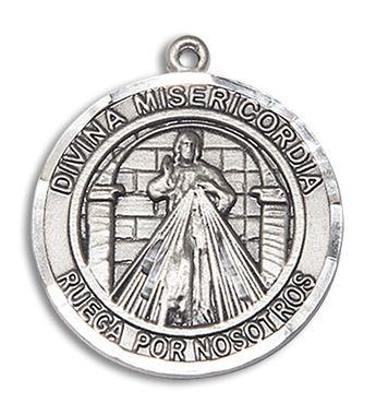 Sterling Silver Divina Misericordia Pendant 7366RDSPSS