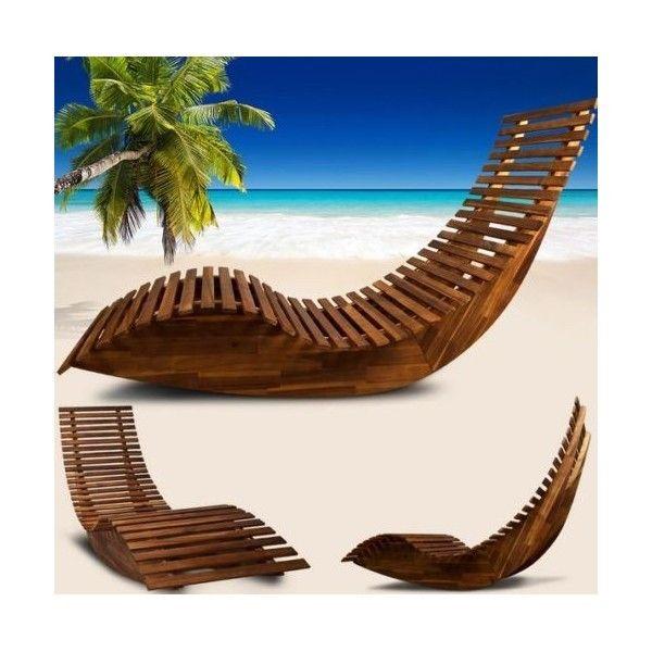 tumbona mecedora ergonomica de madera - Tumbonas Madera