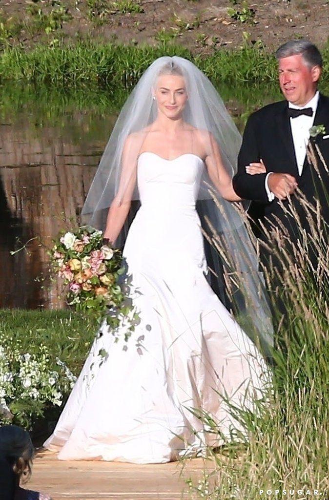 You Ll Love Julianne Hough S Wedding Dress But You Ll Gush Over Her Bridal Bikini Celebrity Wedding Dresses Celebrity Wedding Photos Marchesa Wedding Dress
