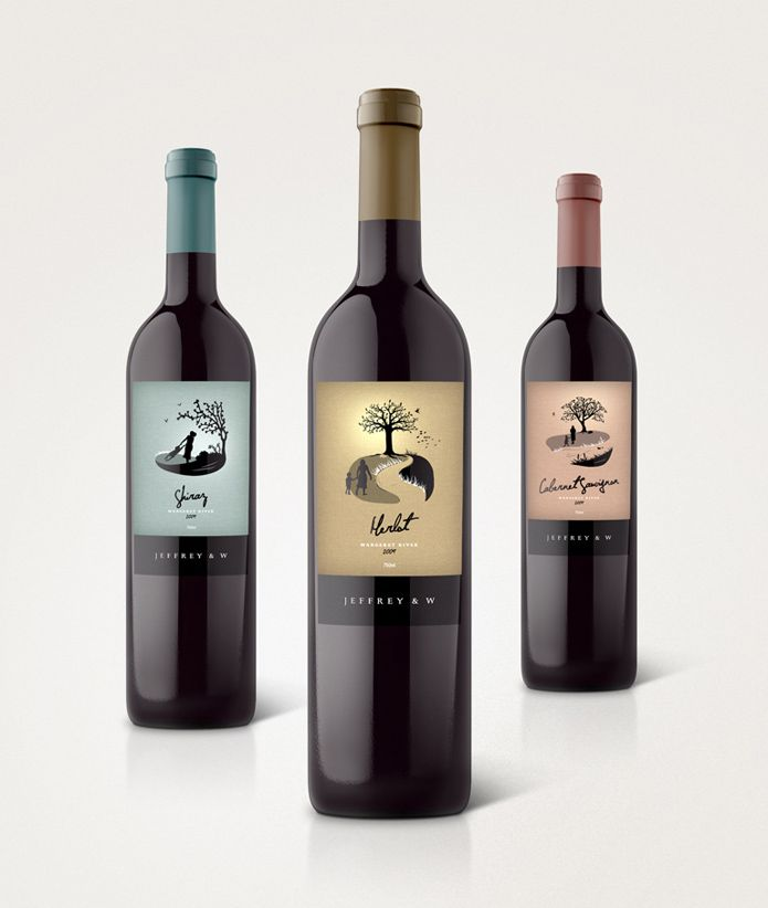 well designed wine labels tree fun pd wine labels. Black Bedroom Furniture Sets. Home Design Ideas