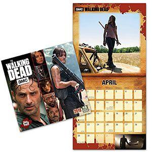 2018 The Walking Dead Wall Calendar Thinkgeek Think Geek Amc Walking Dead The Walking Dead