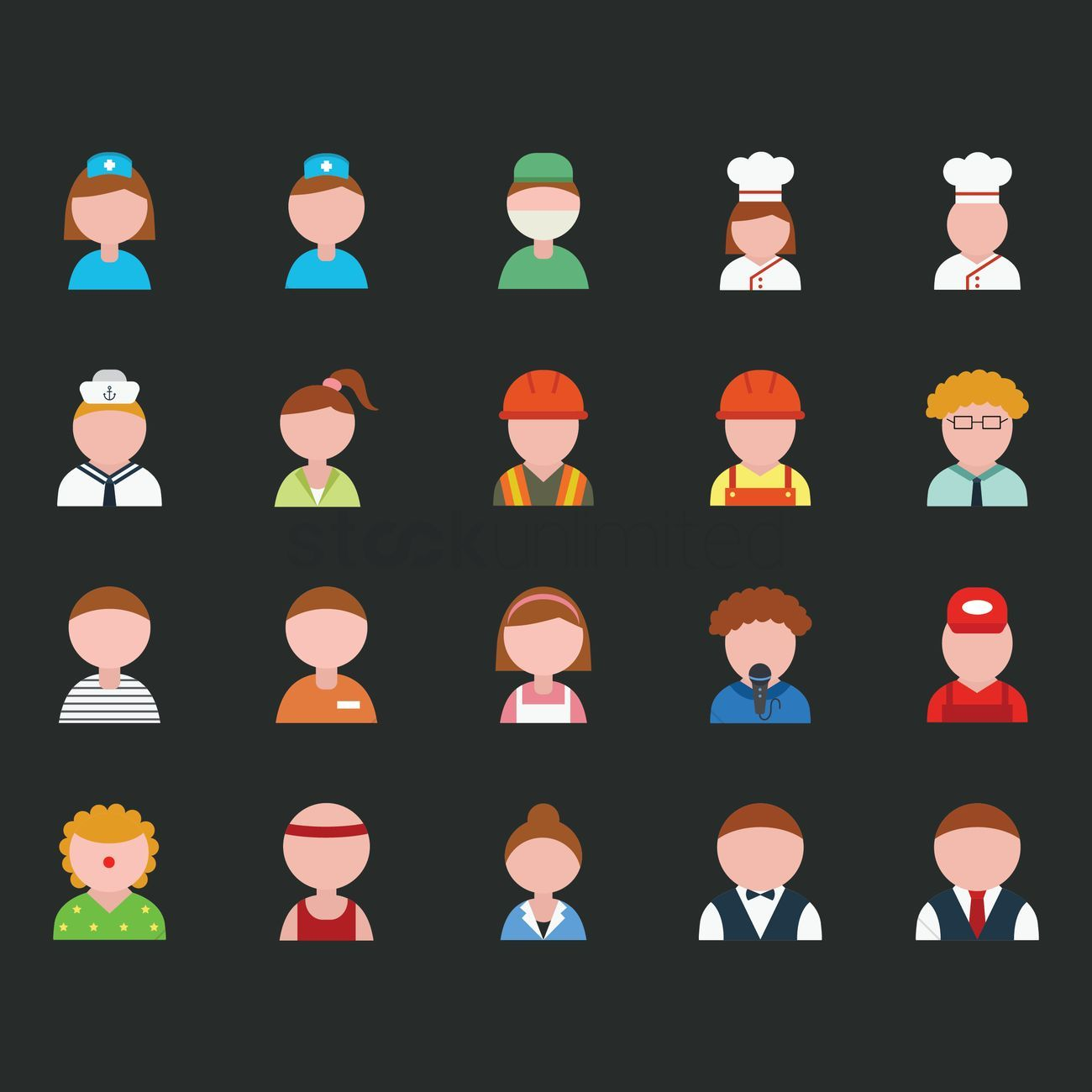 Collection of people and occupation vector illustration