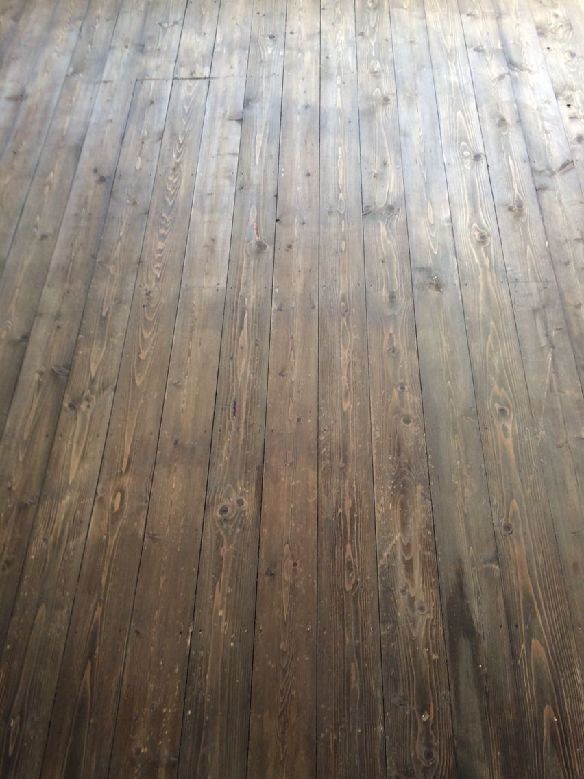 I Stained My Clients Original Floor Boards In Colron Wood