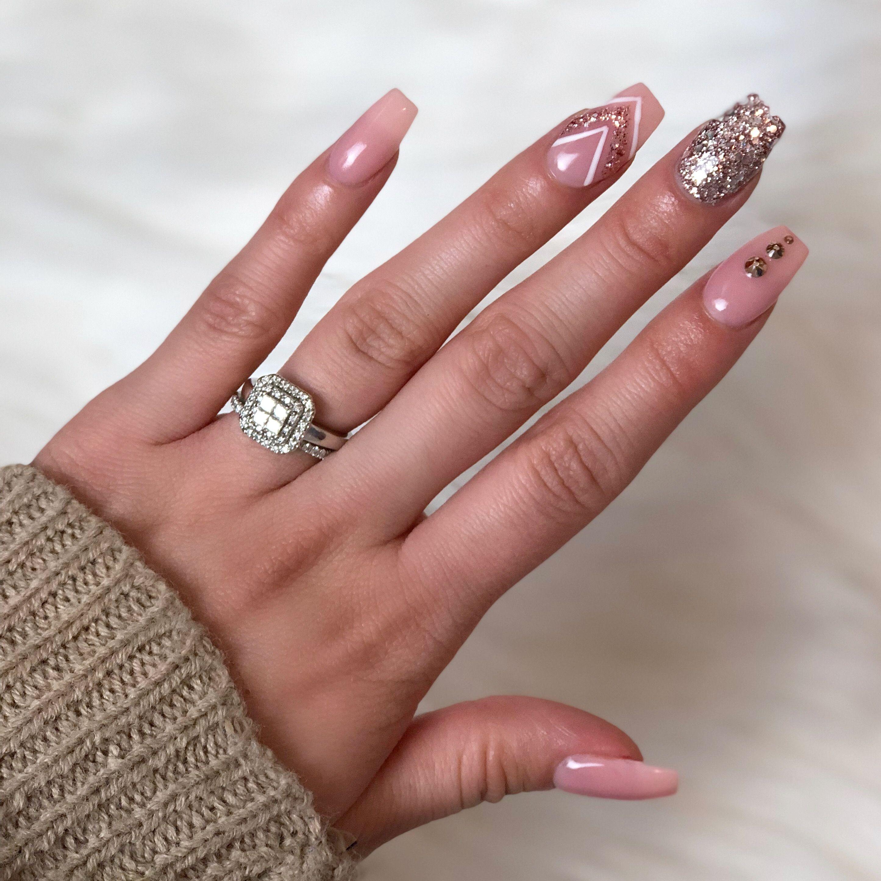 Coffin nails ✨ pink | Nails | Pinterest | Coffin nails, Nail inspo ...