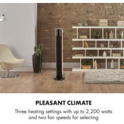 Hightower Heat Deluxe Säulenheizlüfter Ventilator 2200W Thermostat 35°C weiß KlarsteinKlarstein #touchpanel