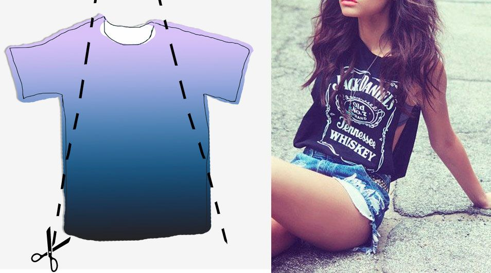 T Shirt Cutting Designs Ideas t shirt cutting designs ideas diy oversized t shirt more diy ideas 5 Diy Summer Ideas To Cut Your T Shirts