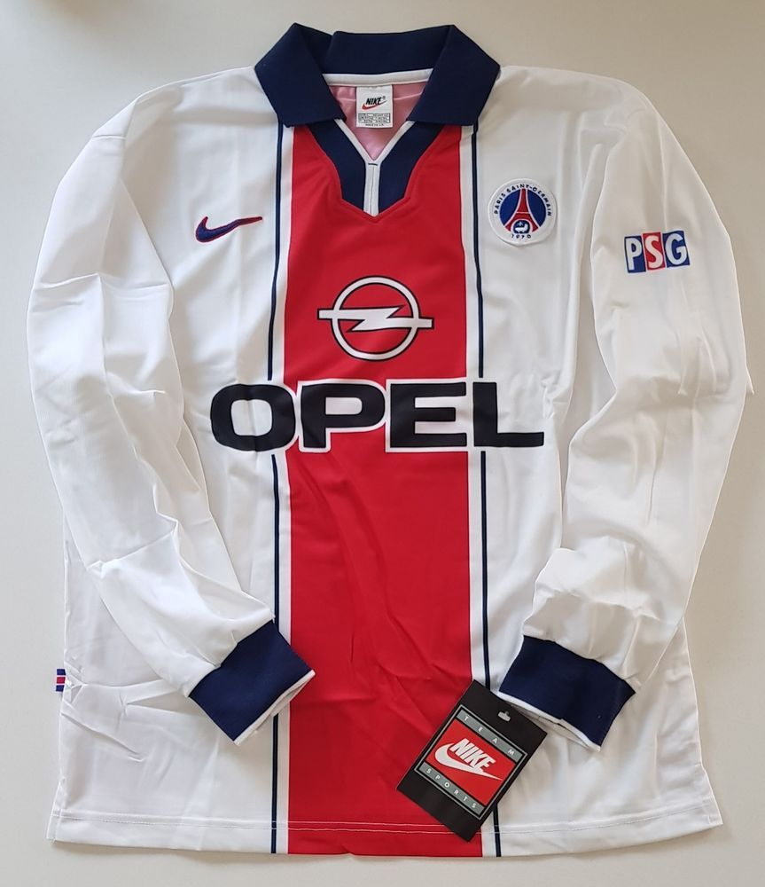 d439e8fac NIKE PSG PARIS SAINT GERMAIN 1997 98 PLAYER ISSUE SOCCER SHIRT JERSEY  MAILLOT OG  Nike